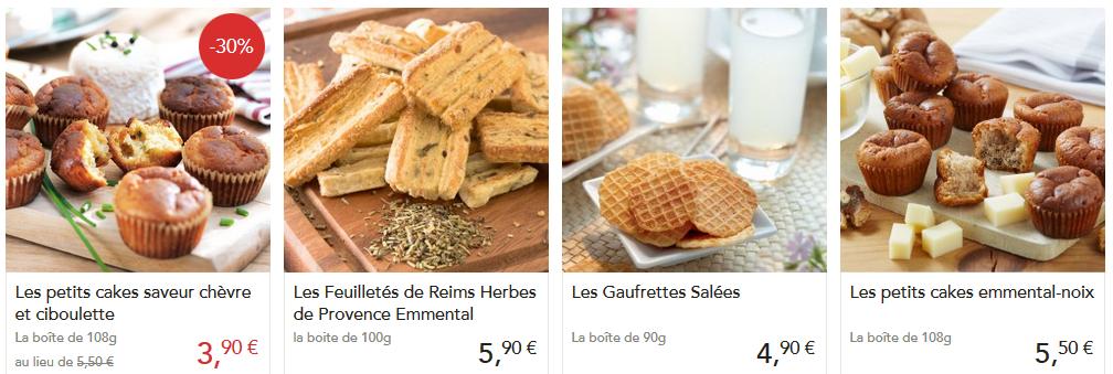 Des biscuits salés pour l'appéritif