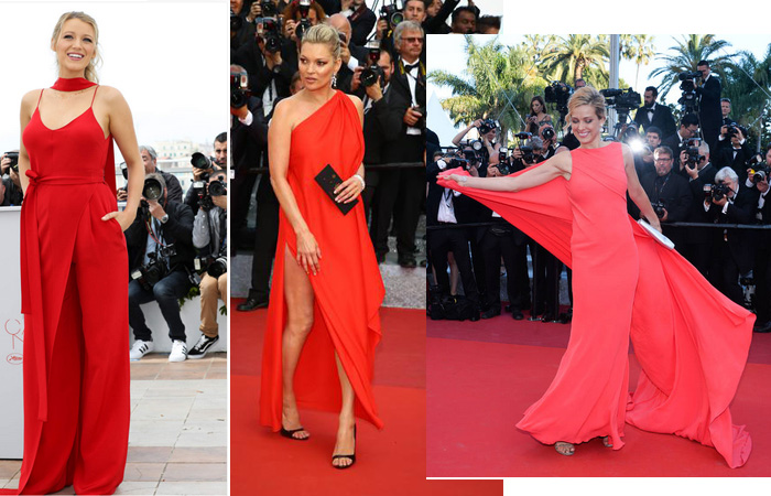 Les robes rouges sont très élégantes...
