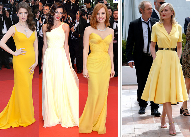 Les robes, il y en a aussi des jaunes !