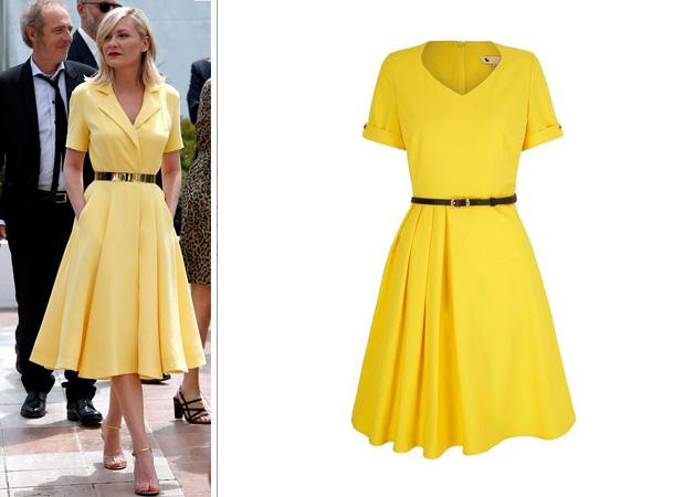 Voir cette robe jaune sur le catalogue de la Redoute ici.