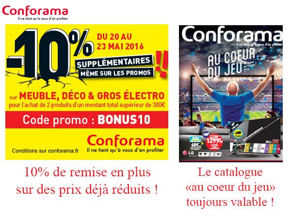 conforama catalogue euro 2016. Black Bedroom Furniture Sets. Home Design Ideas