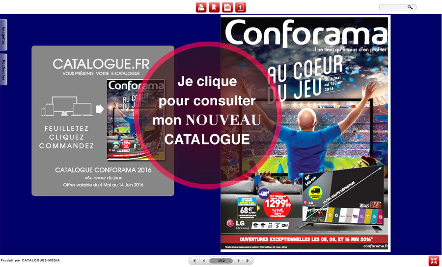 Je consulte le catalogue CONFORAMA ici.