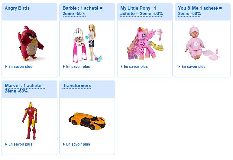 Les réductions à gogo sont valables aussi sur les marques préférées des enfants !
