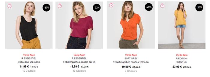 Voir tous les débardeurs, tops et tee-shirt sur le catalogue de La Redoute.