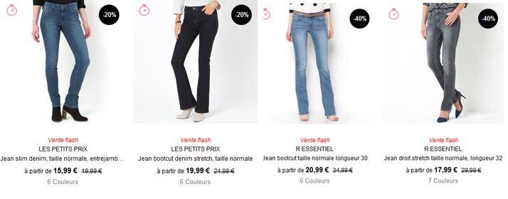 Voir tous les jeans de la Redoute ici.