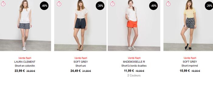 Voir tous les shorts sur le catalogue de La Redoute ici.