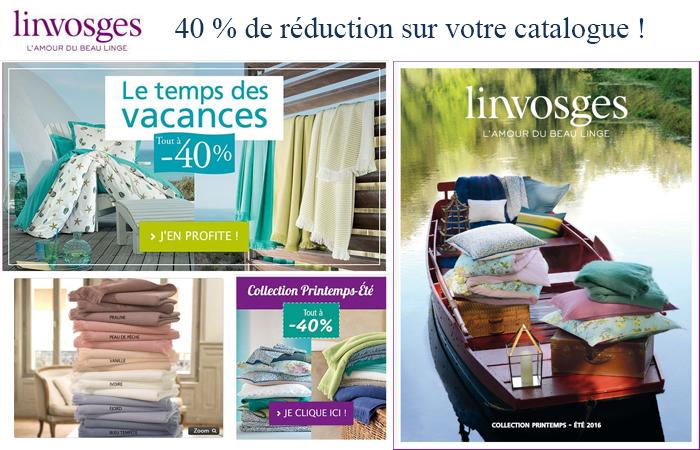 Catalogue linvosges linge de maison for Maison de vacances linge de maison