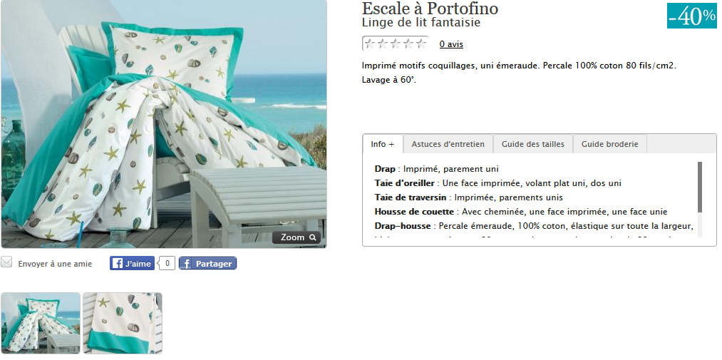 Parure de lit Petite Escale à Portofino.