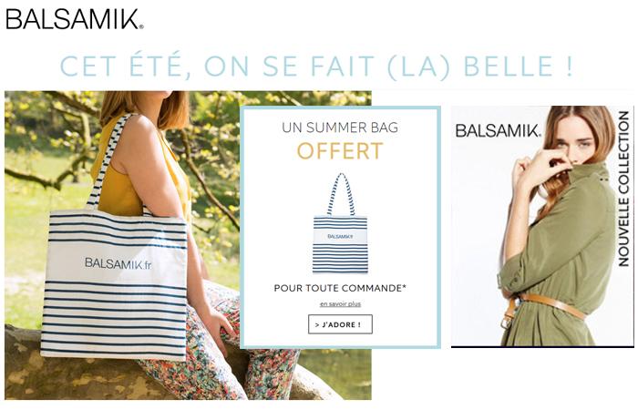 Votre summer bag offert chez Balsamik !