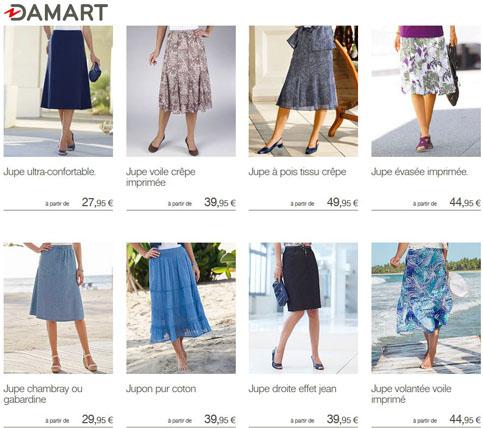 Choisissez la jupe qui vous convient chez Damart