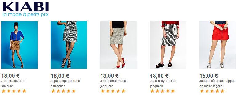Chez Kiabi, les jupes aussi sont à petit prix !
