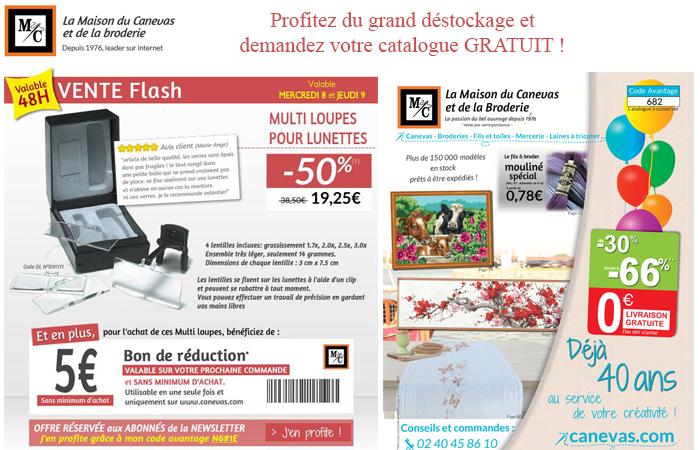 Les ventes flash de la Maison du Canevas et de la Broderie