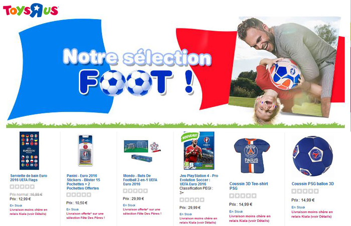 Toys'R'Us a de quoi satisfaire tous les fans de foot !