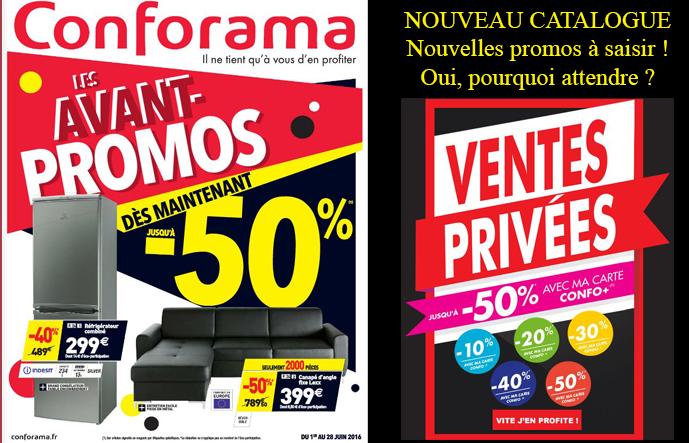 Nouveau catalogue CONFORAMA ! Les avant-promos jusqu'à -50% dès maintenant !