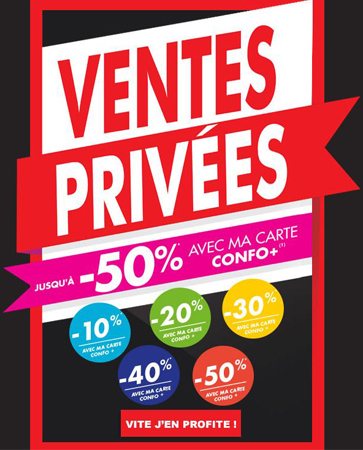 Profitez des ventes privées chez Confo !