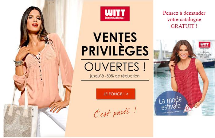 Catalogue Witt International : Les ventes privées sont ouvertes : jusqu'à -50% de réduction, c'est parti !
