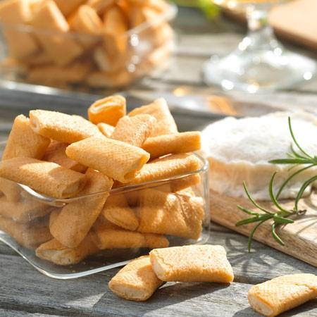 Les crêpes au fromage de chèvre et au romarin