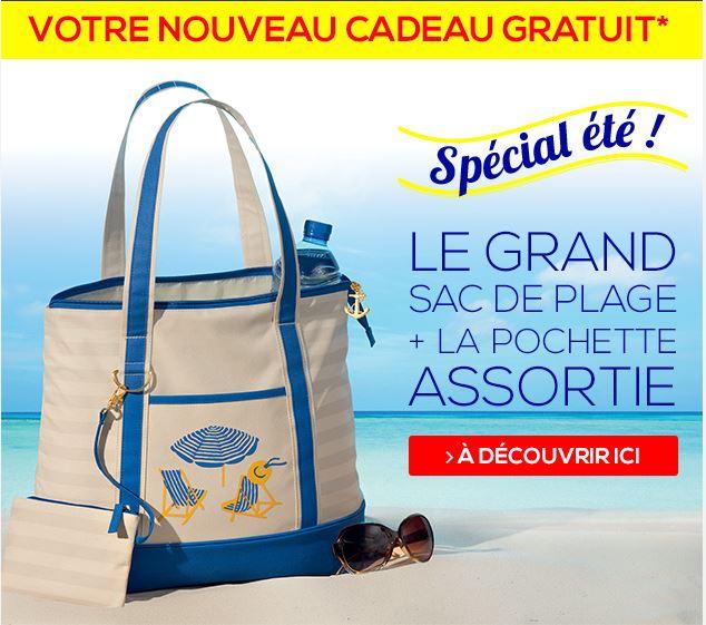 Votre sac de plage + la pochette GRATUITS + le catalogue GRATUIT, vous êtes chez Afibel.