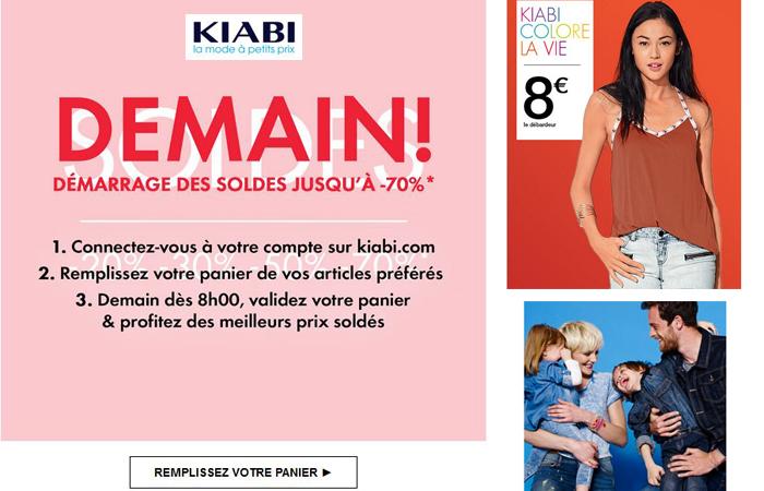 Soldes : J-1 chez Kiabi... votre catalogue de la mode à petits prix !