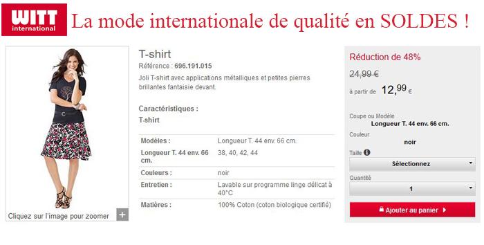 Soldes chez Witt International, 60% de réduction : à vous la mode à petits prix !