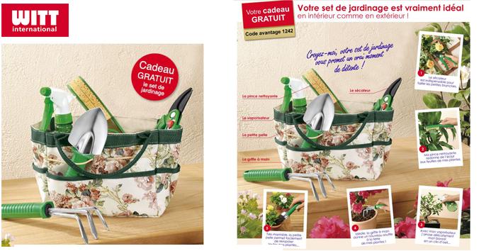 Votre set de jardinage en cadeau !