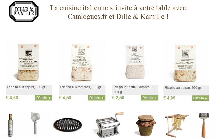 Euro 2016, BRAVO aux italiens ! Votre catalogue Dille et Kamille met la cuisine italienne à l'honneur...