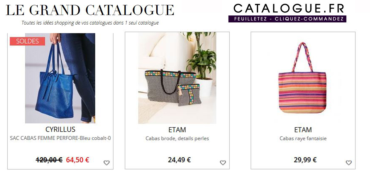 Tous les cabas sur le guide shopping Le Grand Catalogue.