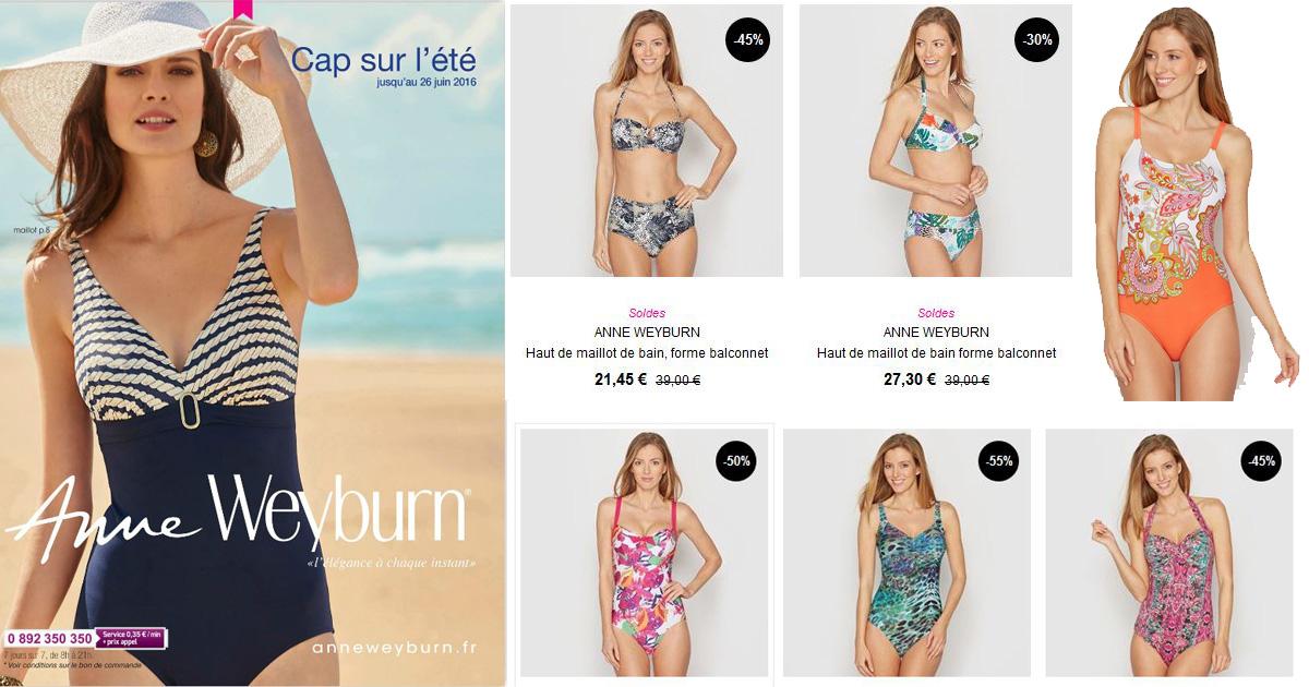 Voir la collection complète des maillots de bains Anne Weyburn.