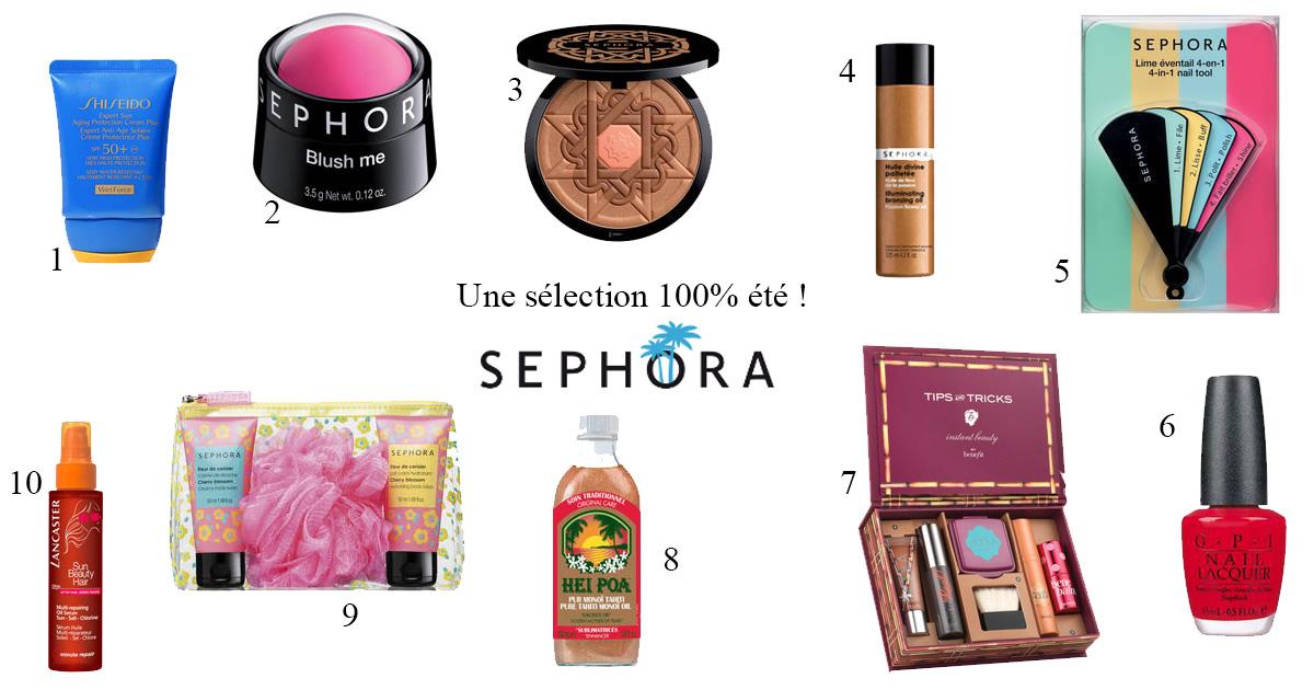 Sur votre catalogue Sephora, une sélection de produits 100% été !