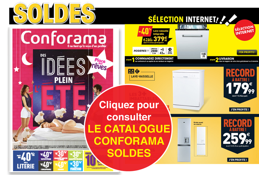 CONFORAMA, Nouveau catalogue Literie, Encastrable, High-Tech !