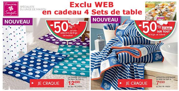 Françoise Saget : cadeau sets de table