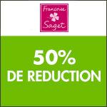 Françoise Saget : -50%  sur une Sélection de linge de maison