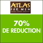 Atlas for Men : ventes flash tout à -70% !