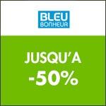 Bleu Bonheur : Jusqu'à -50% sur une sélection linge de maison !