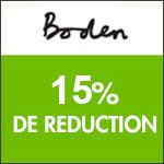 Boden : -15% de réduction.