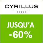 Cyrillus : vente flash jusqu'à -60%.