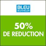 Bleu Bonheur : -50% un article sur deux !