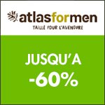 Atlas for Men : Remise jusqu'à -60% sur la nouvelle collection