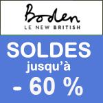 BODEN, Soldes jusqu'à -50% sur la mode
