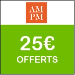 AM.PM : code promo exceptionnel de 25€ !