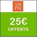 AM.PM : code promo exceptionnel de 25€ !