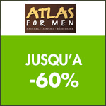Atlas for Men : vente flash tout à -70% !