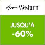 Anne Weyburn : jusqu'à -60% pour ses 180 ans !
