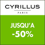 Cyrillus : les tribus days jusqu'à -50% !