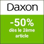 Daxon: jusqu'à -40% sur votre 3ème article