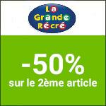 La Grande Récré : une sélection d'articles à -50% pour le 2ème jouet