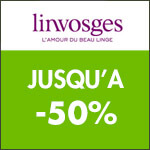 Linvosges : 2ème démarque jusqu'à -60% sur le Linge de Maison