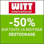 """Witt : -40% sur toute la boutique """"Destockage"""" !"""