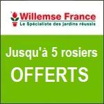 Willemse : jusqu'à 5 rosiers offerts