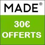 Made : 2 luminaires achetés = 30€ offerts !